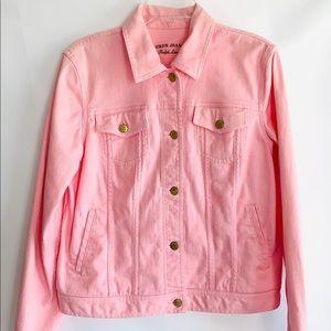 Lauren Jeans Co. Pink Denim Jacket Sz M
